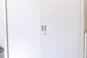 Armoire haute rideaux BLANCHE